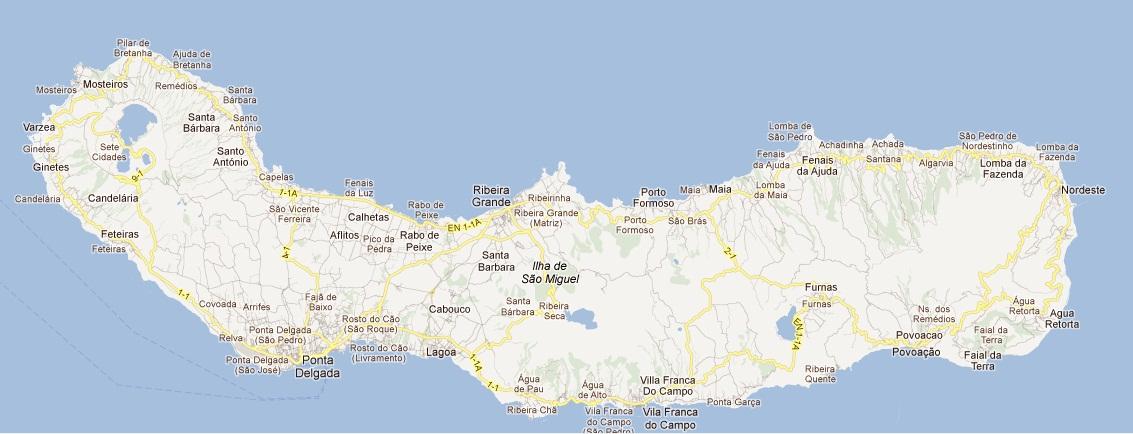 mapa dos açores s miguel Excursões Locais: MD Sete Cidades e Estufas de Ananases | São  mapa dos açores s miguel