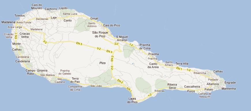 mapa do pico açores Car hire Pico Airport   compare car rental Azores Cartrawler  mapa do pico açores