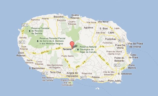 mapa terceira Excursões Locais: TD Jeep Tour c/almoço | Terceira   Angra2000 mapa terceira