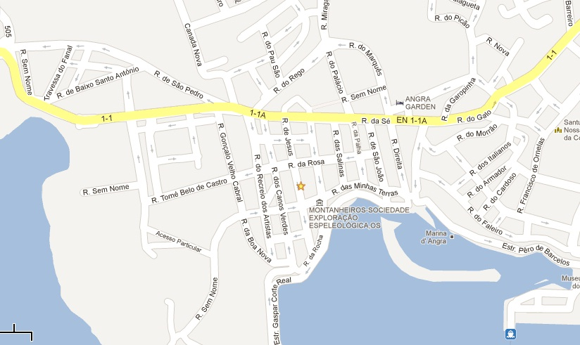 angra do heroismo mapa Excursões Locais: MD Angra do Heroísmo Pedonal | Terceira   Angra2000 angra do heroismo mapa